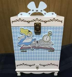 日本東京迪士尼愛麗絲化妝箱收藏盒
