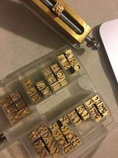 Brass Letters For Hot Foil Stamping