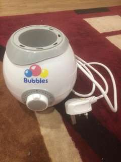 Bubbles bottle warmer