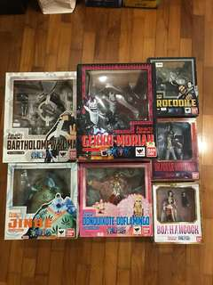 One Piece Bandai Tamashii Nations Figuarts Zero FZ Ouka Shichibukai Seven Warlords Original Group Set of 7 Figures