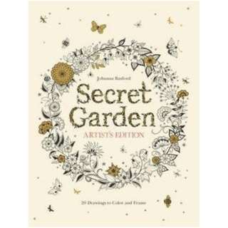 Secret Garden Artist's Edition: 20 Drawing to Color & Frame