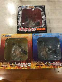 One Piece Banpresto Ichiban Kuji Monkey D. Luffy Gear 4 Fourth Kong Gun Battle Selection Prize A B Last
