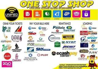 Travel n Tours, Cebuana, Western Union, Smartpadala, Billspayment