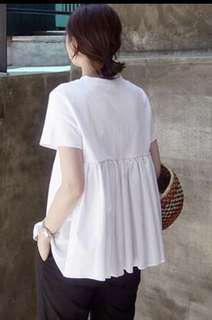 🚚 korean style white top