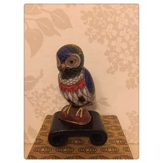 🚚 銅製景泰藍 貓頭鷹