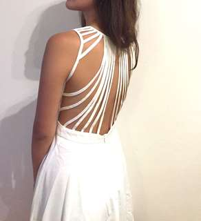 Little White Dress with Back Detailing