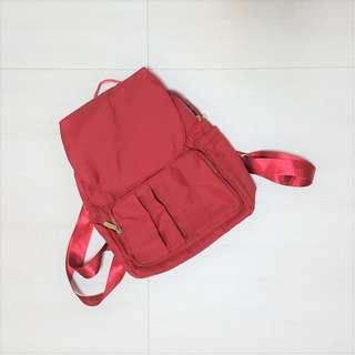 紅色 後背包 全新 小背包 包包 雙肩包 韓系 日系 可愛