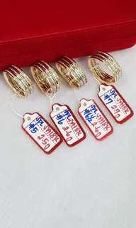 Saudi Gold 18k ladies Ring (tri-color)