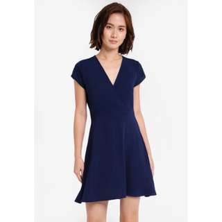 Zalora Blue Knit Dress