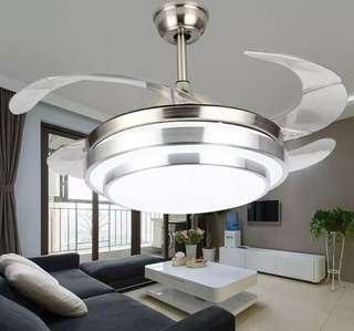 Led ceiling fan w/ mountain chadelier w/remote 3way