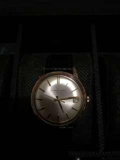 Eterna matic 1000 swiss mens gold plaque watch rare