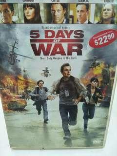 5 days of war movie DVD