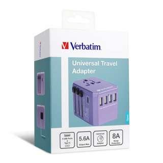 Verbatim 5 Ports 旅行充電器 Travel Adaptor 原裝行貨1年保養 紫色
