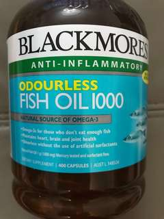 Blackmores odourless fish oil 1000 - 400capsules