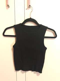 Free Size Black Crop Top