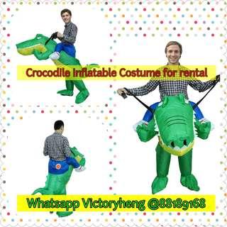 Crocodile Inflatable Costume for rental