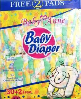 magic tape diapers (eq repacked) 30+2pcs