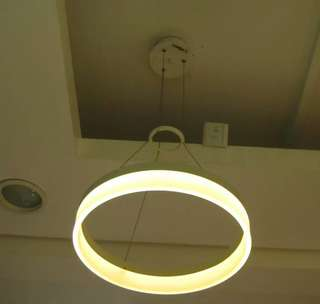 Led hanging lamp 24watts warmwhite