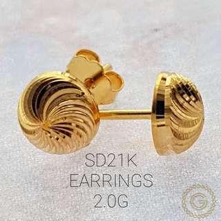 Saudi Gold 21k Earrings
