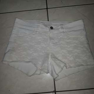 GUESS White Lace Shorts