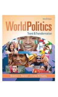 World Politics: Trend and Transformation 2016-2017 作者:Blanton, Shannon Lindsey/ Kegley, Charles William