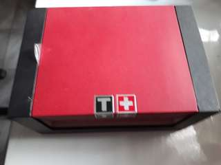 Box jam tissot asli, ada booklet dan guarantee card lengkap