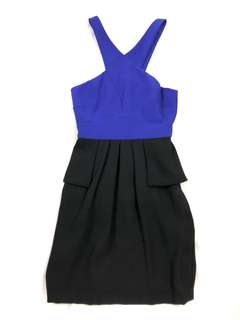 Ever New blue and black cocktail dress