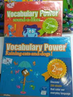 Vocabulary flash cards in a calendar form