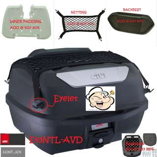 2806---GIVI BOX E43 NTL Mulebox For Sale !!!Brand New (YAMAHA, Honda, SUZUKI, ETC)