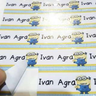Personalized Sticker for labels