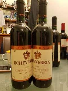 2005年Echevrrria紅酒一支