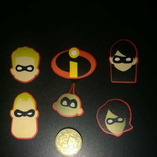 Incredibles Laminated Sticker Set
