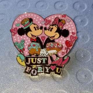 Disney Pin 迪士尼 Mickey、Minnie 米奇 / 米妮 徽章