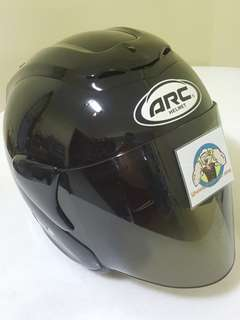 2806*** ARC RITZ Helmet Black with Tinted Visor 🤣🤣Thanks To All My Buyer Support 👌👌