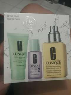 Clinique 3 step skin care / dry combination skin