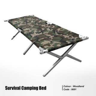Survival camping bed
