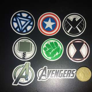 Avengers Laminated Sticker Set