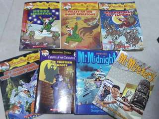 🚚 $12 - All 8 books (Geronimo Stilton / Mr Midnight/ Mr Mystery)