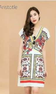 Zara ori dress flowy