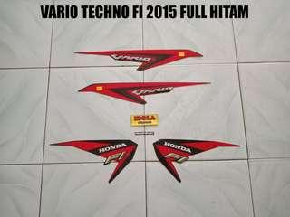 Striping Vario Techno FI 2015 Full Hitam