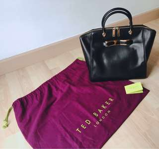 Ted Baker Slim Bow Leather Tote Bag