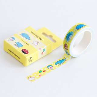 🚚 Jinbeisan Yellow Washi Tape #167