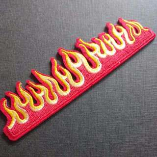 Fire Flame Burn Hot Wheels Iron On Patch