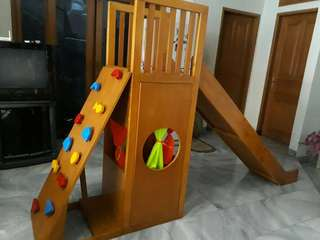 4in1 wooden sliding,climbing,tower, playhouse