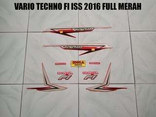 Striping Vario Techno FI ISS 2016 Full Merah