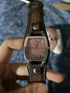 Pink Fossil Women's Analog Quartz Watch