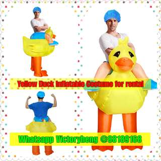Yellow Duck Inflatable Costume for rental