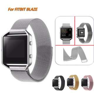 Milanese Loop Watch Band Stainless Steel Magnetic Closure Bracelet for Fitbit Blaze apple watch