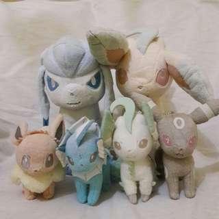 "Original Banpresto ""I Love Eievui"" Eevee Pokemon Plush Toys from Japan"