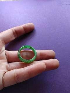 天然翡翠 綠戒指